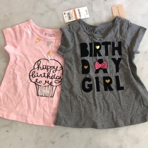 NWT set of two girls birthday T-shirt's